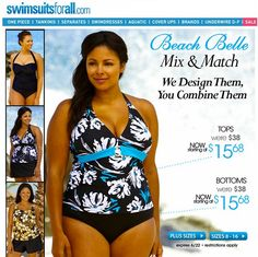 Special Offers Available Click Image Above: Beach Belle Aqua Splash Plus Size Ring Front Halter Tankini Top Curvy Swimwear, Swimwear Fashion, Women's Swimwear, Beachwear, Plus Size Rings, Chic And Curvy, Curvy Plus Size, Plus Size Swimsuits, Swim Dress