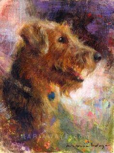 Custom Pet Portrait  Oil painting  Dog Portrait  Oil by MariaWaye