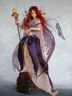 *POLYMER CLAY ~ Art Fairy Dolls by CDHM Artist Deb Wood aka Enchanted Hearts