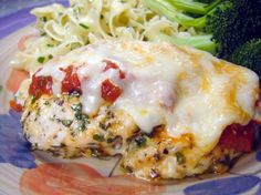 Easy Baked Chicken Parmesan (No Breading). OMIT or use low-fat parm, and make your own dressings using the Dukan recipes.