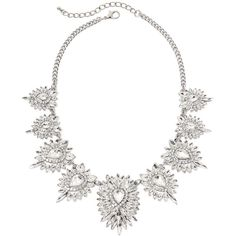 Natasha Crystal Teardrop Cluster Statement Necklace ($100) ❤ liked on Polyvore featuring jewelry, necklaces, bib statement necklace, long necklace, tear drop necklace, cluster necklace and crystal jewellery