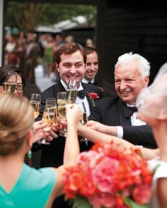 The best man usually offers the first toast after dinner. Others may follow, including the maid of honor, if she's inclined. No one needs give a long and entertaining toast if they don't want to; short and heartfelt is just fine.