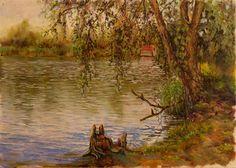 Художественный этюд 25х35 «На берегу озера» | Andrew Pugach