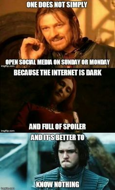 Because the internet is dark and full of spoilers