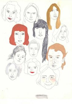 sketches of women faces Kim Welling