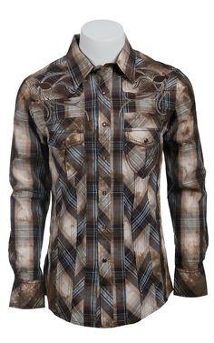 Rock & Roll Cowboy Men's L/S Western Snap Shirt B2S6455 | Cavender's