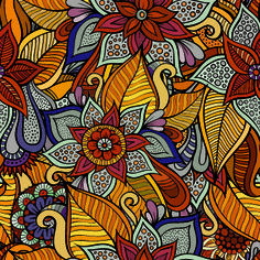 Decorative seamless pattern vector 02