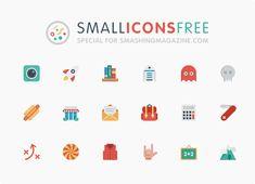 54 Colorful Small Icons – Introducing The Smallicons [Freebie] — Smashing Magazine Web Design, Flat Design Icons, Icon Design, Flat Icons, Graphic Design, Social Media Icons, Social Media Design, Small Icons, Pictogram