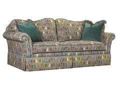 U-3060-0488DS Beaucaire Sofa shown in SE-FHN-942 Costumes 1530 Charcoal Hemp available at French Heritage.