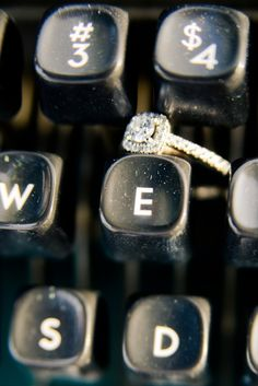 "Shoot your wedding ring on the ""letter"" of your new last name!!"