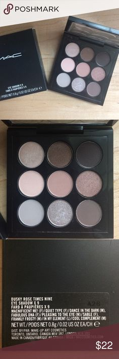 MAC beautiful eyeshadow pallet Brand new! 9 shadow pallet - Magnificent Me, Quiet Type, Dance In The Dark, Fabulous DNA, Pleasing To The Eye, Sable, Frankly Frost, In My Element, Cool Complement MAC Cosmetics Makeup Eyeshadow
