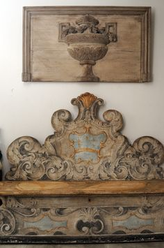 The Italian Renaissance Painted Cassapanca - decoration,wood,wood working,furniture,decorating French Furniture, Antique Furniture, Painted Furniture, Tuscan Furniture, Architectural Salvage, Architectural Elements, Painted Benches, Painted Beds, Italian Home