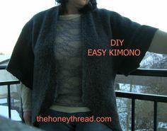 DIY Easy Kimono Tutorial