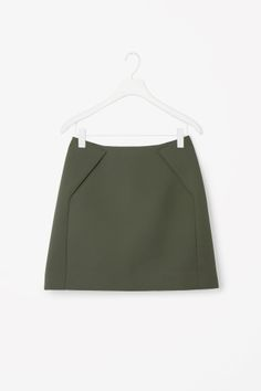 COS image 2 of Short A-line skirt in Khaki Green