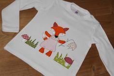 """Langarmshirts - Shirt """" Fuchsmädchen Fritzi"""" - ein Designerstück von milla-louise bei DaWanda"""