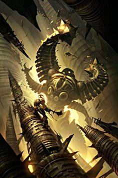Fantasy Story, Sci Fi Fantasy, Fantasy Books, Environment Concept Art, Environment Design, Raymond Swanland, Fantasy Battle, Sci Fi Characters, Titanic