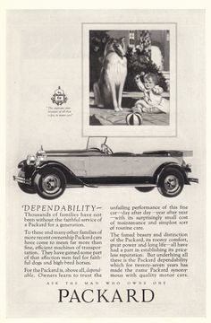 1927 Packard Car Ad Baby Dog by CollectiblesbyGramps on Etsy