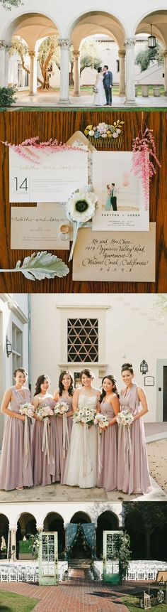 Check out all the gorgeous florals in this Purple + Blush Pasadena Wedding on GWS!