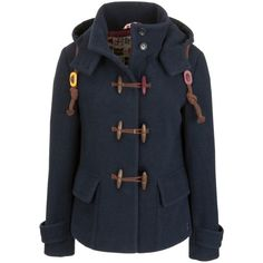 Joules Leighton Duffle Coat, Navy - Polyvore