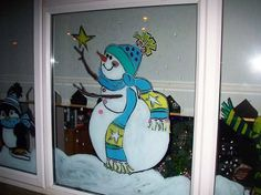 christmas window painting | Book your WINDOW MURALS for Halloween or Christmas - One Off Wall Art