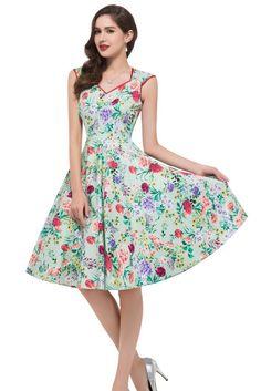 1950-er Vintage Kleid mit Blumen