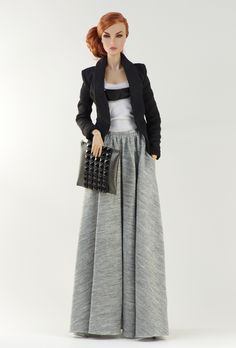 (FR2 body) inc. blazer, top, skirt, bag, boots.