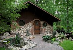 Jurustic Park - The Hobbit House, north of Marshfield Wisconsin.