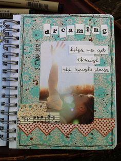 dreaming • art journal page