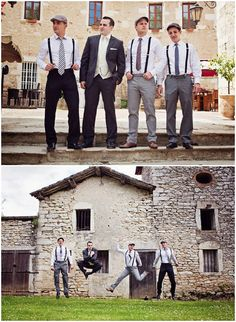 Love the groomsmen in this photo - How much fun is this for a rustic farm wedding?
