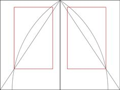 """Medieval manuscript framework according to Tschichold, in which a text area proportioned near the golden ratio is constructed. """"Page proportion is 2:3, text area proportioned in the Golden Section"""
