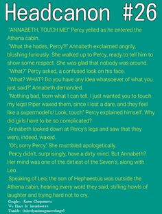 You know the chances Percy has a dirty mind is very high it proves that in the book Greek heros Percy Jackson Annabeth Chase, Percy Jackson Head Canon, Percy Jackson Ships, Percy Jackson Quotes, Percy Jackson Fan Art, Percy And Annabeth, Percy Jackson Books, Percy Jackson Fandom, Rick Riordan Series