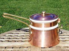 Bazar Francais Copper Double Boiler / Bain Marie w/ 5 cup Hall insert
