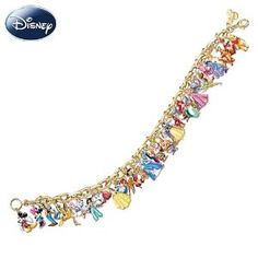 Disney Charm Bracelet 37 different Disney Characters. I want it!!! Too bad it cost so much. :/