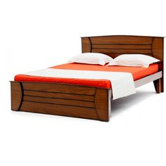 A Modern Bed for the Next Gen People. GoRevizon's :- we create Beauty for the People. Wood Bed Design, Bedroom Bed Design, Bedroom Furniture Design, Bed Furniture, Sofa Design, King Size Bed Designs, Wooden King Size Bed, Cama Queen, Yellow Bedding