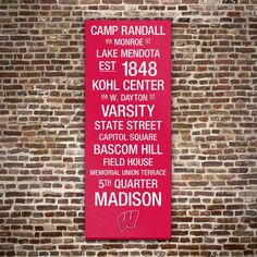 Wisconsin Badgers Wall Art by Wisconsin | Fab.com