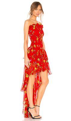 9411cbf4ce21d Shop for Caroline Constas Lola Smocked Dress in Red Multi at REVOLVE.