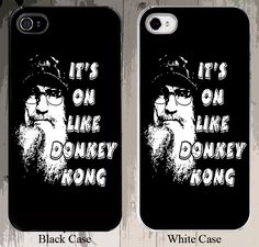 Si Robertson Its On Like Donkey Kong of Duck Dynasty Fame and Duck Commander Fame iPhone Case - Fits iPhone 5S or 4S buyer choice. $17.00, via Etsy. when i get a i phone i need this please!!!!!!!!