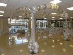 Dance Floor Canopy, 4 column, Balloons by Balancia LLC