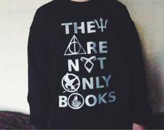 sweater books harry potter the hunger games divergent city of bones the mortal instrument hunger games nerd geek