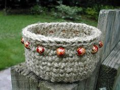 This Beaded Jute Basket isn't crocheted like any other basket. It is made out of hemp, and you might even already have the materials at home! This is a nice, earthy basket that will look great outdoors or indoors to organize just about anything.