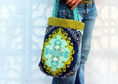 Beautiful bag with fabric from Trina Turk's line for F. Schumacher & Co. Textiles. Handmade by textilecouture, $120.00