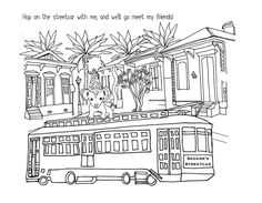 #Hopping on the #streetcar!!!! My #friends are all of you and a bunch of #animals!! #coloringbook is almost finished!!  #neworleans #coloring #art #book #story #drawing #ink #opossum #babyanimals #nola #architecture #frenchquarter #stcharles #nolalove #uptownnola by itsmesesame