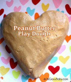 Snack AND play with this 3 ingredient peanut butter play dough!