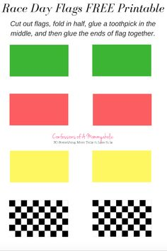 "racing car"" printable toothpick flag templates for cupcakes. free, Powerpoint templates"