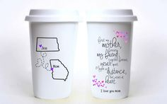 First My Mother, Forever My Friend; Never Apart Long Distance Travel Mug