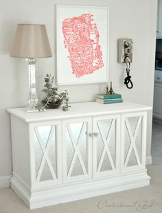 $10 Cabinet Makeover - Could use something like this for a media cabinet in our spare room.