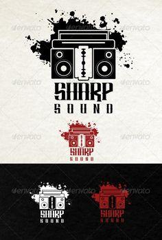 Sharp Sound Logo — Photoshop PSD #black #logo • Available here → https://graphicriver.net/item/sharp-sound-logo/3638718?ref=pxcr
