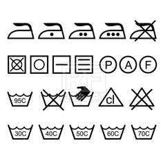 Laundry icons, 1244, download royalty-free vector clipart (EPS)