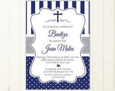invitacion bautizo niño azul imprimible primera comunion invitacion boy baptism invitation in spanish comunion en español digital file 178