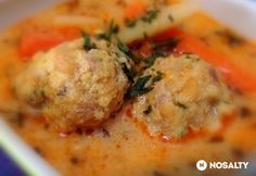 Transylvanian meatball soup with tarragon Hungarian Cuisine, Hungarian Recipes, Hungarian Food, Pasta Recipes, Cooking Recipes, Meatball Soup, Yummy Food, Tasty, Food 52